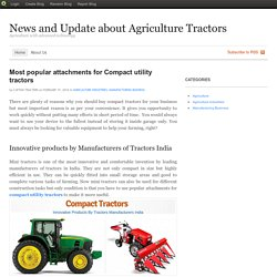 Most popular attachments for Compact utility tractors