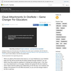 Cloud Attachments In OneNote – Game Changer For Educators – NZ Education Blog