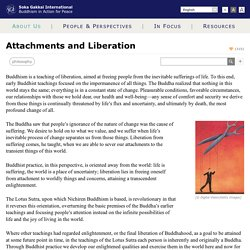 Attachments and Liberation