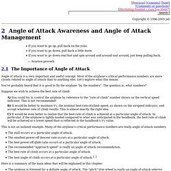 Angle of Attack Awareness and Angle of Attack Management [Ch. 2 of See How It Flies]