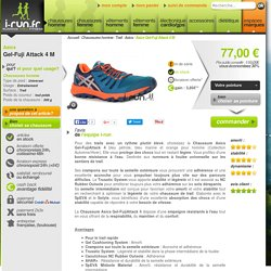 Asics Gel-Fuji Attack 4 M pas cher - Chaussures homme running Trail en promo