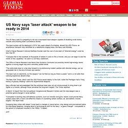 US Navy laser Attack ready in 2014