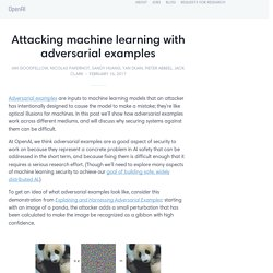 Attacking machine learning with adversarial examples