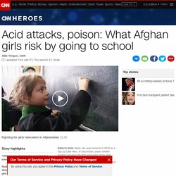 Acid attacks: What Afghan girls risk by going to school