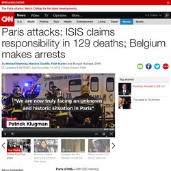Paris attacks: ISIS claims responsibility