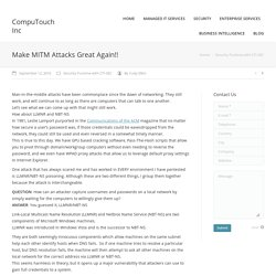Make MITM Attacks Great Again!! - CompuTouch Inc