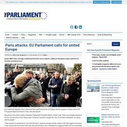 Paris attacks: EU Parliament calls for united Europe