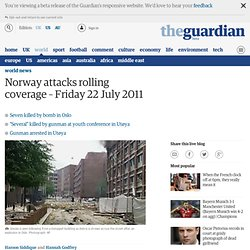 Oslo explosion - live coverage | World news
