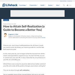How to Attain Self-Realization (a Guide to Become a Better You)