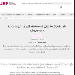 Closing the attainment gap in Scottish education