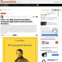 A lire : en 1839, quand Louis Blanc attaquait déjà la perversité