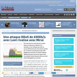 Une attaque DDoS de 650Gb/s avec Leet rivalise avec Mirai