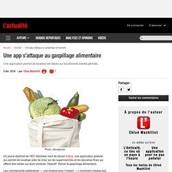 LACTUALITE 05/04/16 Une app s'attaque au gaspillage alimentaire (Eatizz)