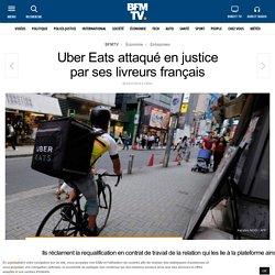 Uber Eats attaqué en justice par ses livreurs français