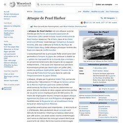 Attaque de Pearl Harbor
