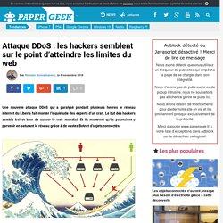 Attaque DDoS : les hackers semblent sur le point d'atteindre les limites du web