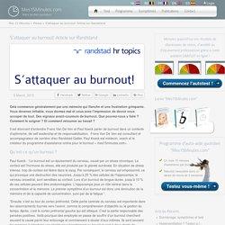S'attaquer au burnout! Article sur Randstand - Mijn Kwartier