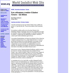 Les attaques contre Günter Grass - un bilan