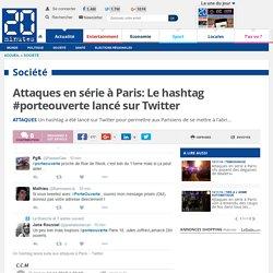 """Le hashtag #porteouverte lancé sur Twitter: un article très court du site d'actualités""""20 minutes"""" sur un des rôles de Twitter"""