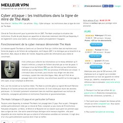 Malware the mask: attaques des institutions