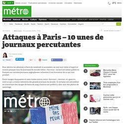 Attaques à Paris – 10 unes de journaux percutantes