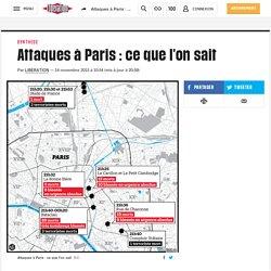 Attaques à Paris : ce que l'on sait