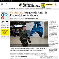 Vu du Mali. Attaques de Paris: la France doit rester debout