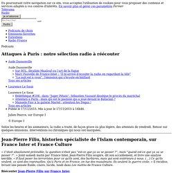 Attaques à Paris : notre sélection radio à réécouter