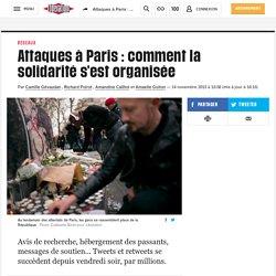 Attaques à Paris : comment la solidarité s'est organisée
