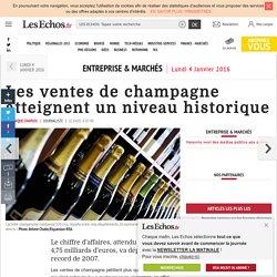 Les ventes de champagne atteignent un niveau historique, Entreprise & Marchés