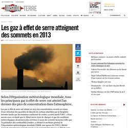 Les gaz à effet de serre atteignent des sommets en 2013