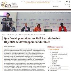 Que faut‑il pour aider les PMA à atteindre les Objectifs de développement durable?