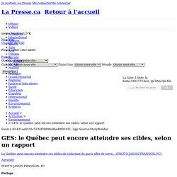 GES: le Québec peut encore atteindre ses cibles, selon un rapport