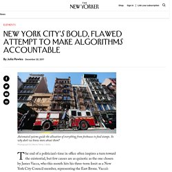 New York City's Bold, Flawed Attempt to Make Algorithms Accountable