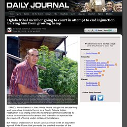 Oglala tribal member going to court in attempt to end injunction barring him from growing hemp