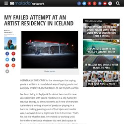 My failed attempt at an artist residency in Iceland