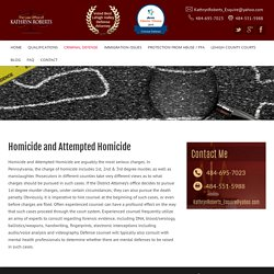 Homicide And Attempted Homicide Pennsylvania