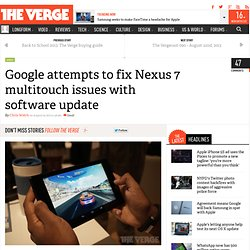 Google attempts to fix Nexus 7 multitouch issues with software update