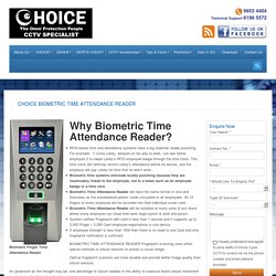 Choice Biometric Time Attendance Reader Promotion