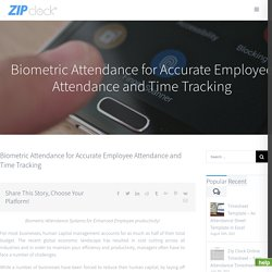 Biometric Attendance Software System for Attendance Management