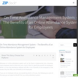 Online Time and Attendance Software - Online Attendance Management System Software