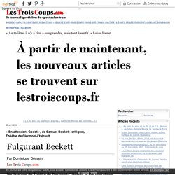 « En attendant Godot», deSamuelBeckett (critique), ThéâtredeClermont-l'Hérault