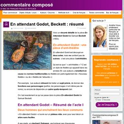 En attendant Godot, beckett : résumé