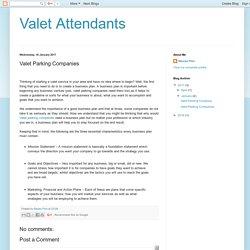 Valet Attendants: Valet Parking Companies