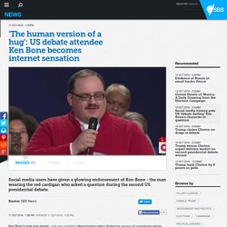 'The human version of a hug': US debate attendee Ken Bone becomes internet sensation