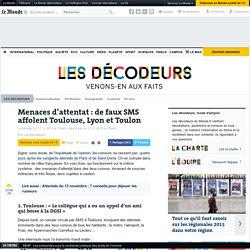Menaces d'attentat : de faux SMS affolent Toulouse, Lyon et Toulon