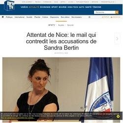 Attentat de Nice: le mail qui contredit les accusations de Sandra Bertin