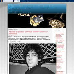 Attentat de Boston: Dzhokhar Tsarnaev clame son innocence