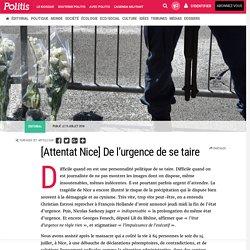 [Attentat Nice] De l'urgence de se taire par Denis Sieffert