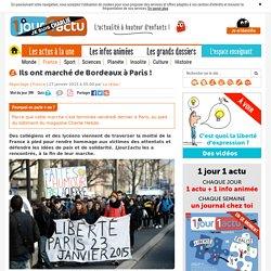 Marche de Bordeaux à Paris après les attentats de Paris
